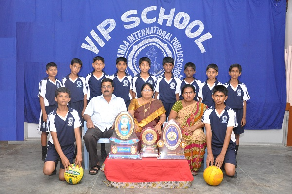 VIP High School Taluk Level Throw Ball Winners 2013